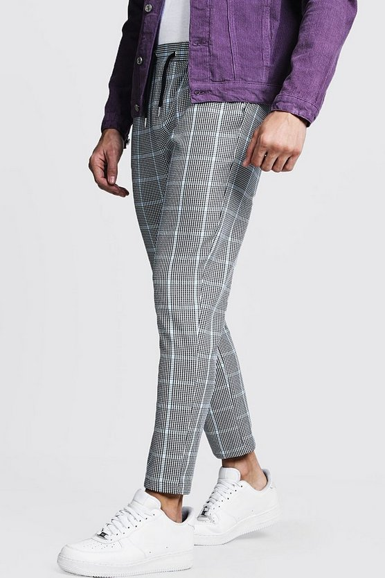 Blue Large Scale Ice Cream Check Smart Jogger