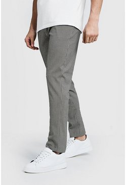 Mens Brown Pleat Front Gingham Check Pants