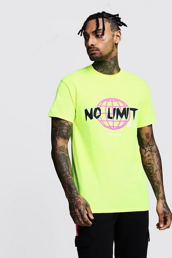 Regular No Limit Printed Jersey Tee