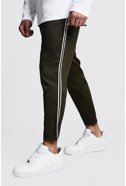Herr Khaki Jogger Chino With Side Tape