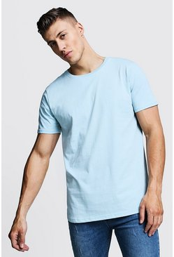 Mens Ash Loose Fit T-Shirt With Extended Neck