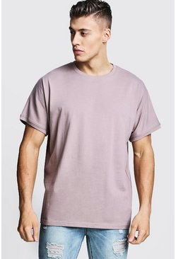 Mens Bark Loose Fit Batwing Sleeve T-Shirt