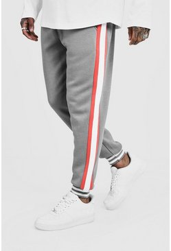 Mens Coral Side Panel Sports Rib Joggers