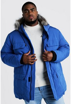 Cobalt Big & Tall Faux Fur Hooded Arctic Parka