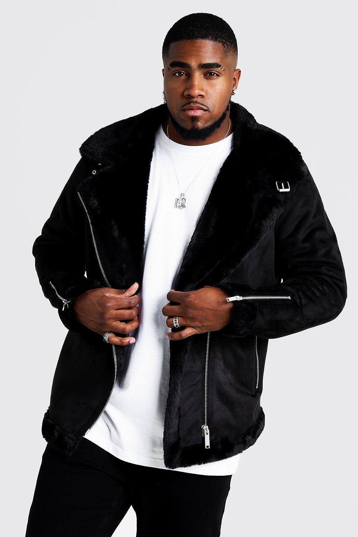 Купить со скидкой Большие размеры и ростовки — Куртка авиатор из искусственной замши на подкладке из искусственного ме