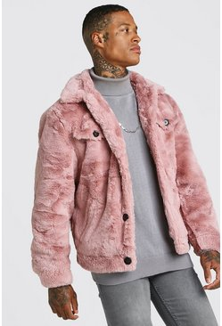 Dusky Faux Fur Trucker Jacket