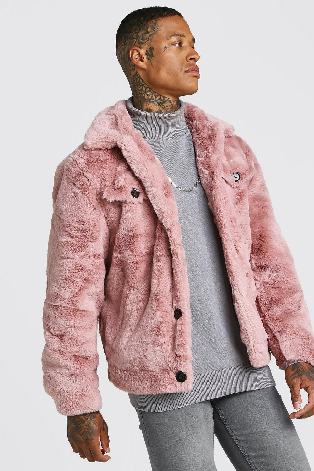 choose latest convenience goods first rate Faux Fur Trucker Jacket | Boohoo