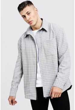 Herr Stone Oversized Check Harrington