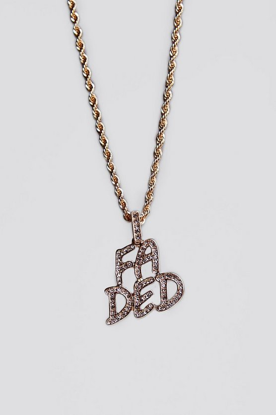 Mens Gold Faded Chain Necklace