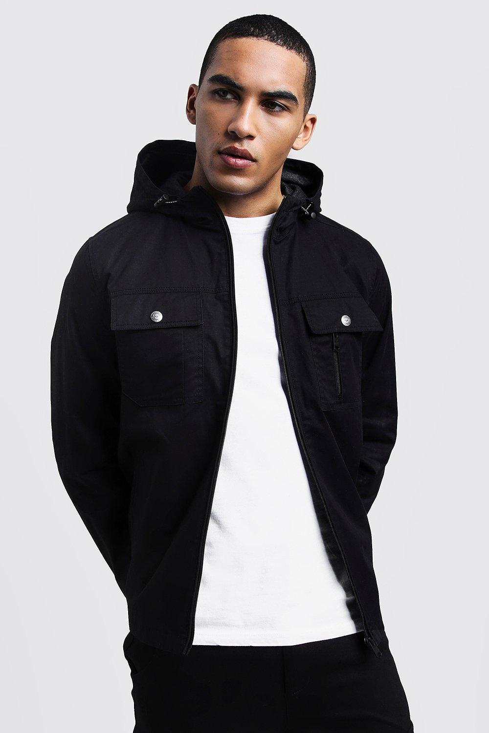 Lined Hooded Utility Shacket
