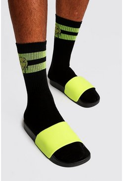 Mens Neon-yellow Neon Slider