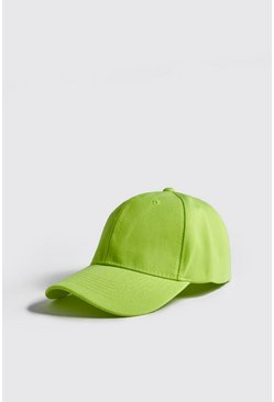 Mens Neon-yellow Neon 6 Panel Cap