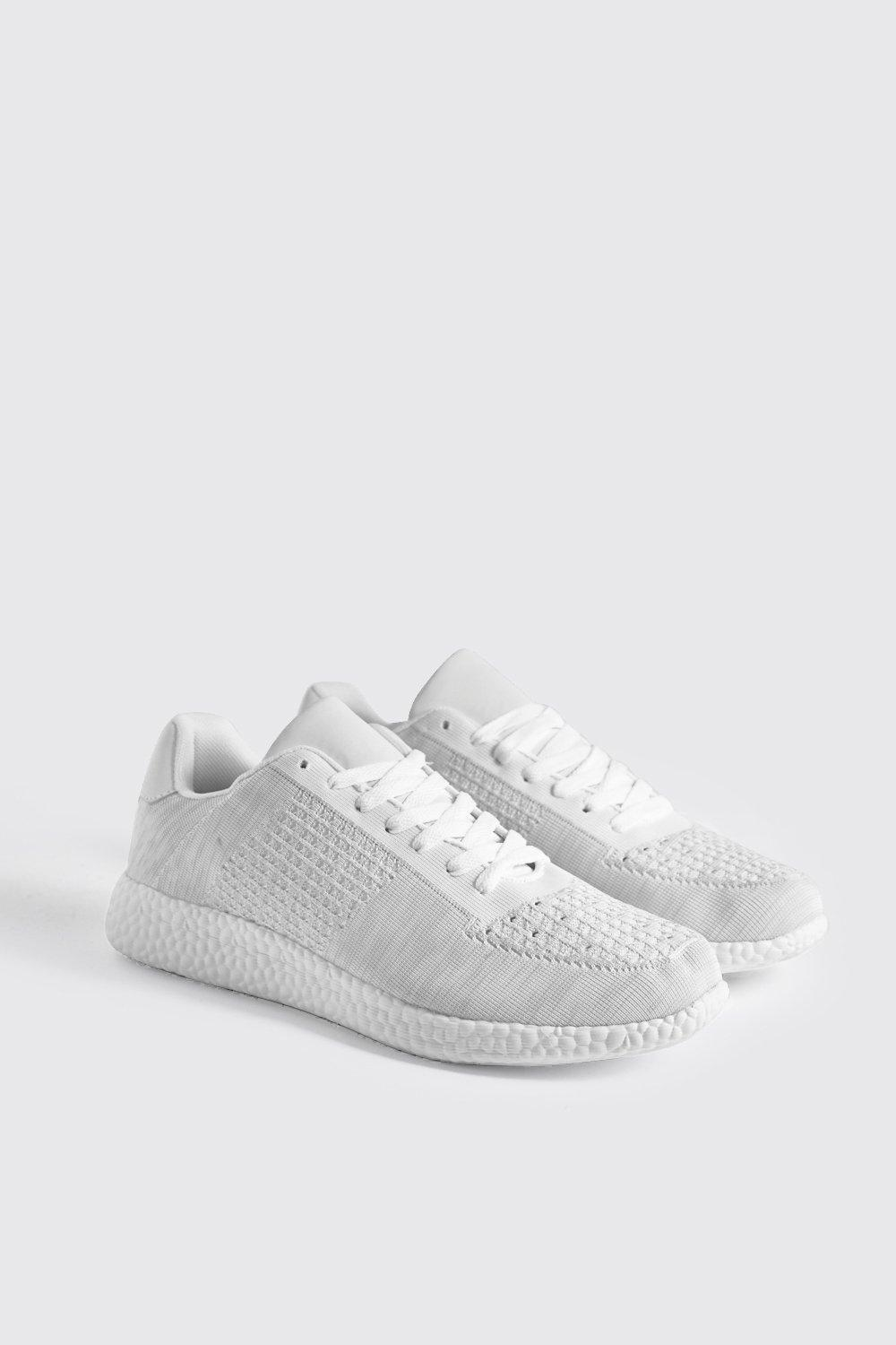 Knitted Trainer With Sport Sole