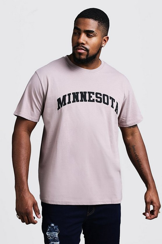 Camiseta con estampado de Minnesota Big & Tall, Corteza, Hombre