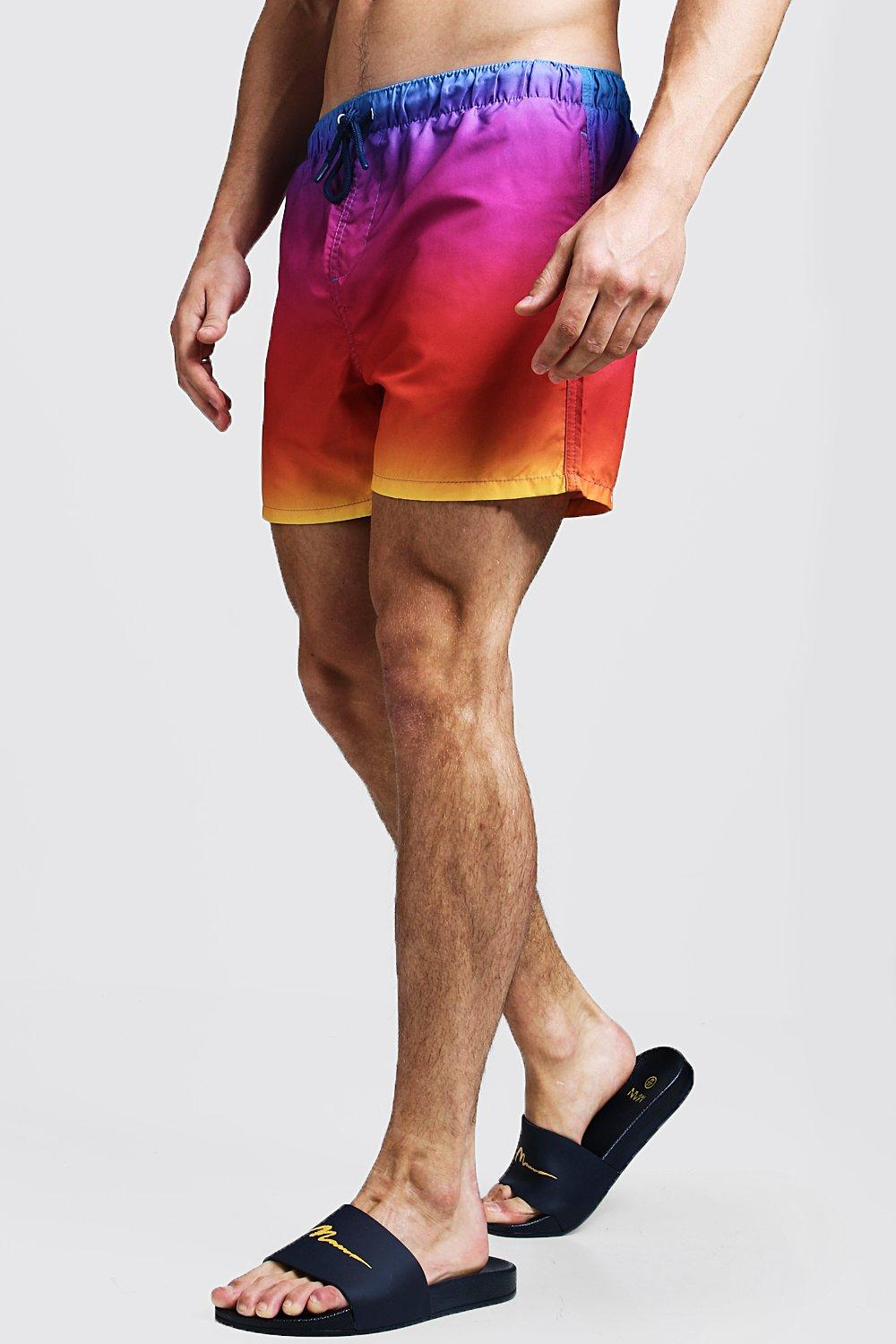 Dip Dye Swim Short In Mid Length