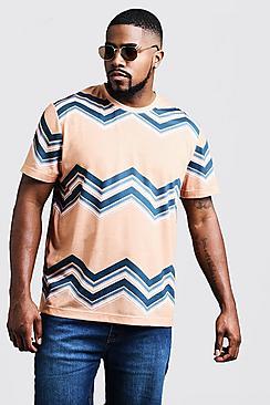 Big & Tall Chevron Print T-Shirt