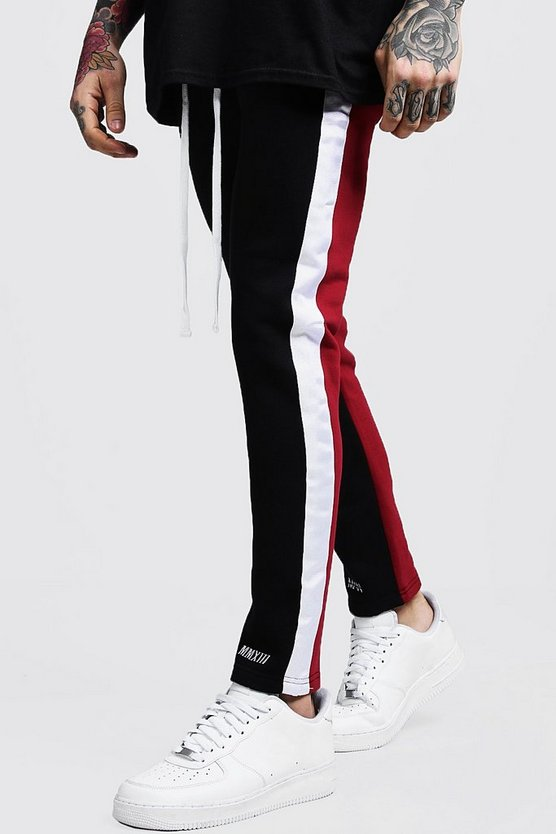 Colour Block MAN Branded Joggers