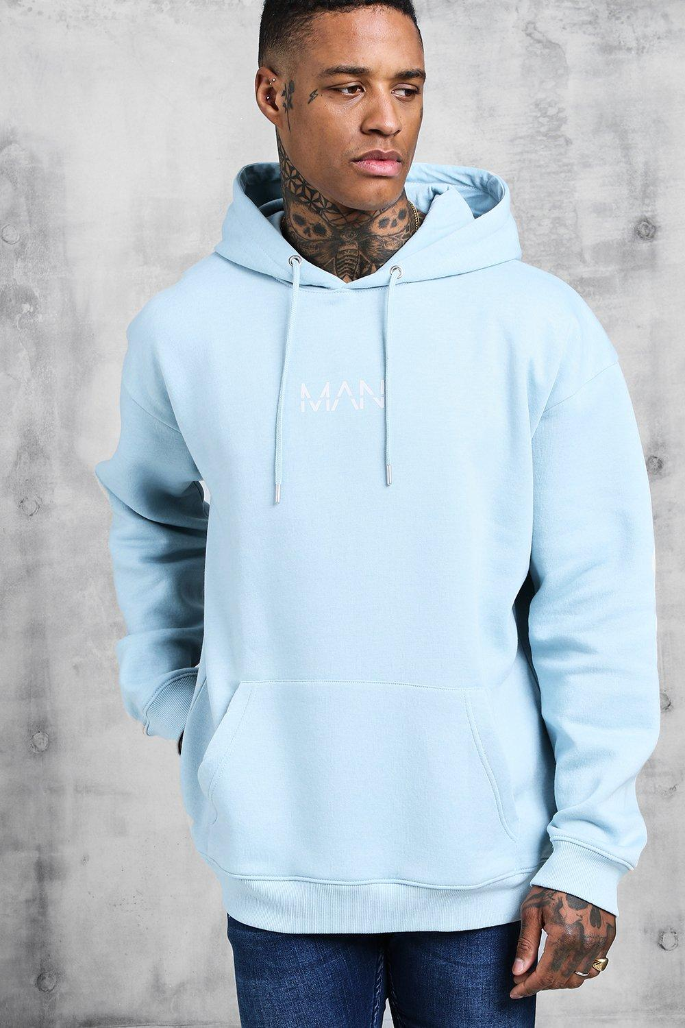 Original Man Print Over The Head Hoodie