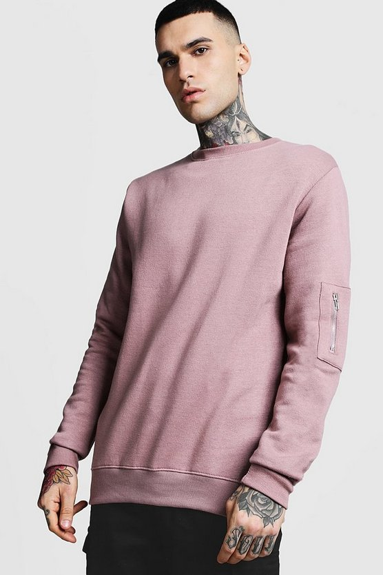 MA1 Pocket Detail Sweatshirt