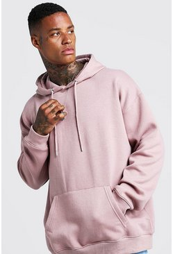 Mens Bark Fleece Oversized Over The Head Hoodie