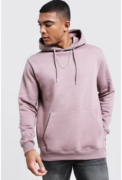 Mens Bark Basic Over the Head Fleece Hoodie