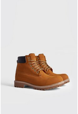 Mens Camel MAN Emboss Worker Boot