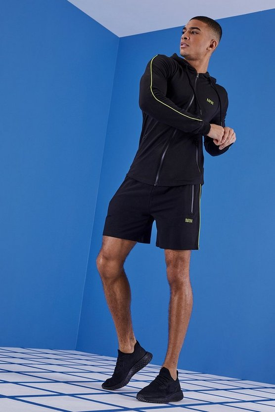 MAN Gym Muscle Fit Short Tracksuit