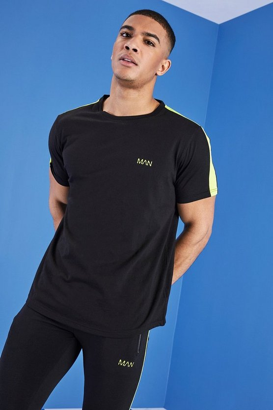 MAN Gym T-Shirt With Curved Hem