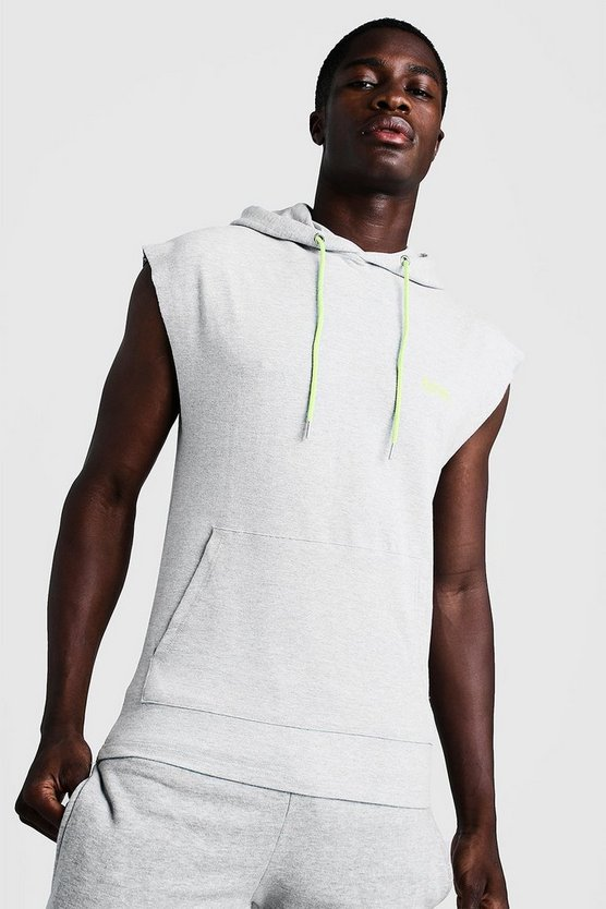 Grey MAN Gym Sleeveless Hoodie