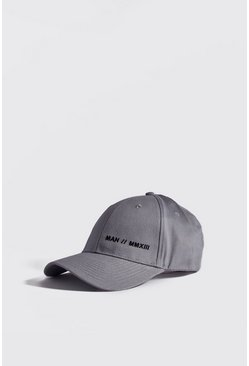Mens Light grey MAN MMXIII Embroidered Cap