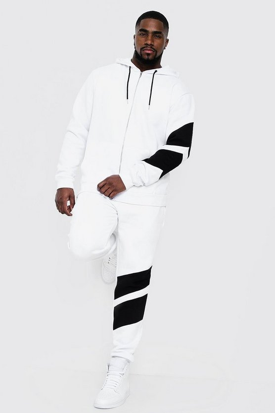 Big & Tall Tracksuit With Contrast Panels