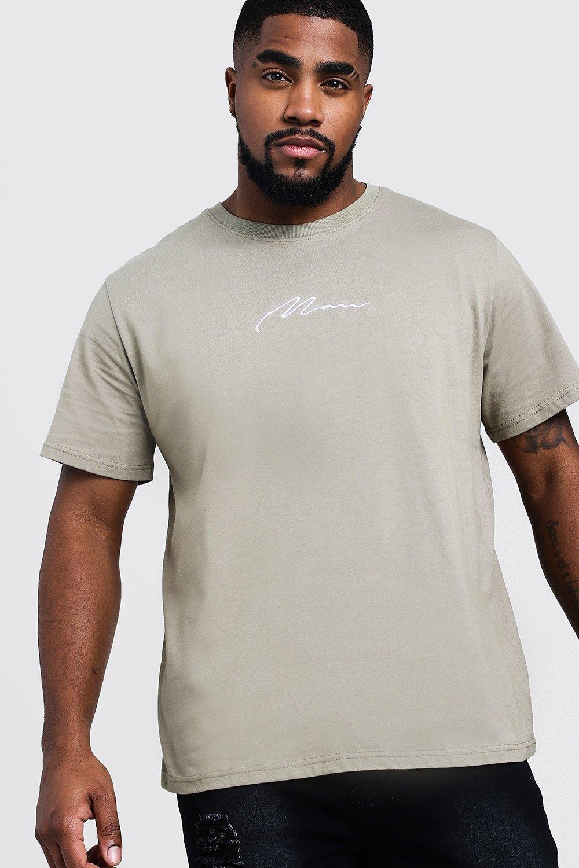 Big & Tall Man Embroidered T-Shirt