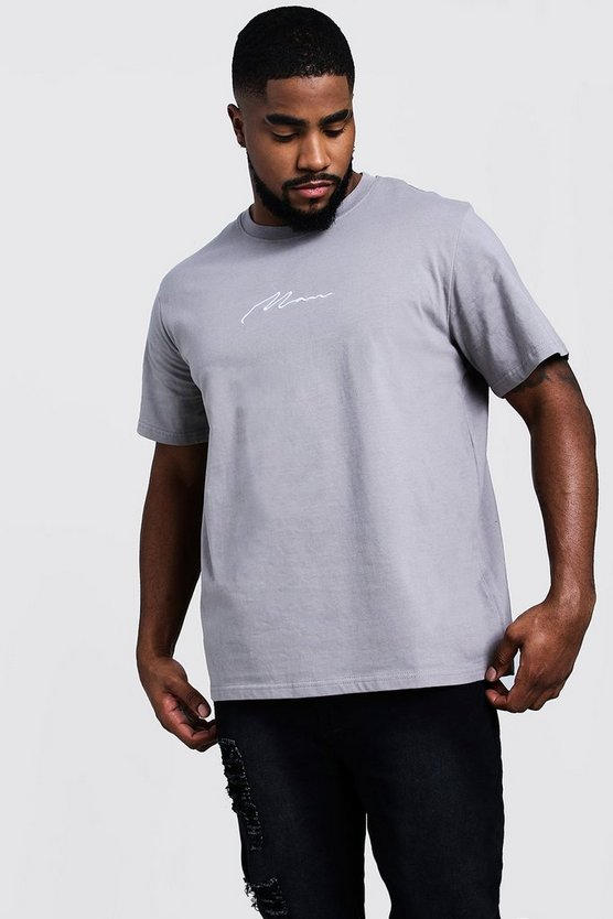 Big & Tall MAN Signature Embroidered T-Shirt