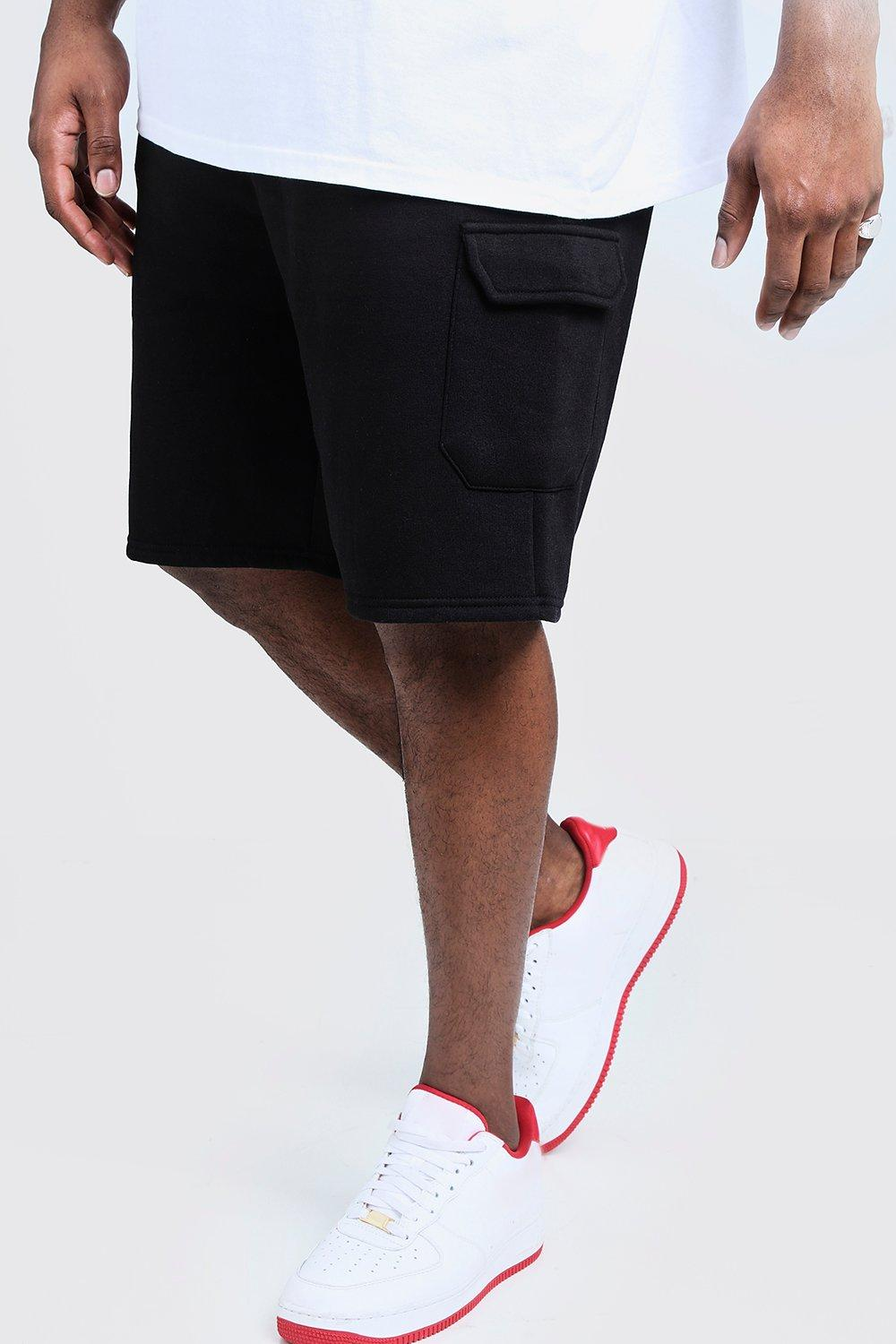 Big And Tall Skinny Fit Jersey Cargo Shorts
