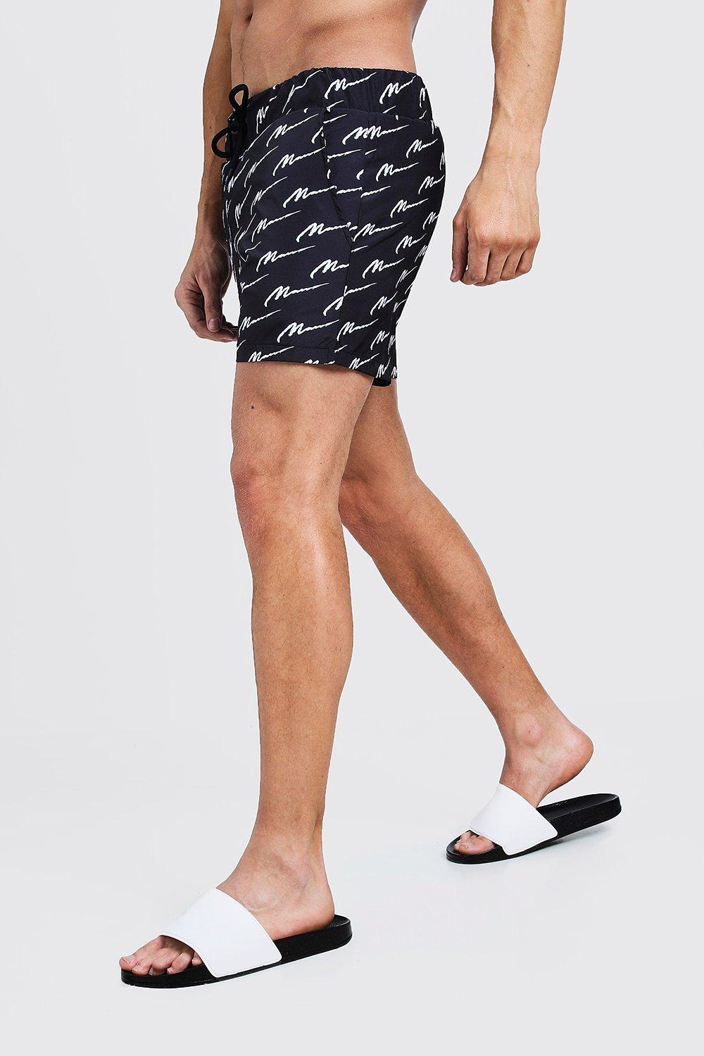All Over MAN Print Mid Length Swim Short