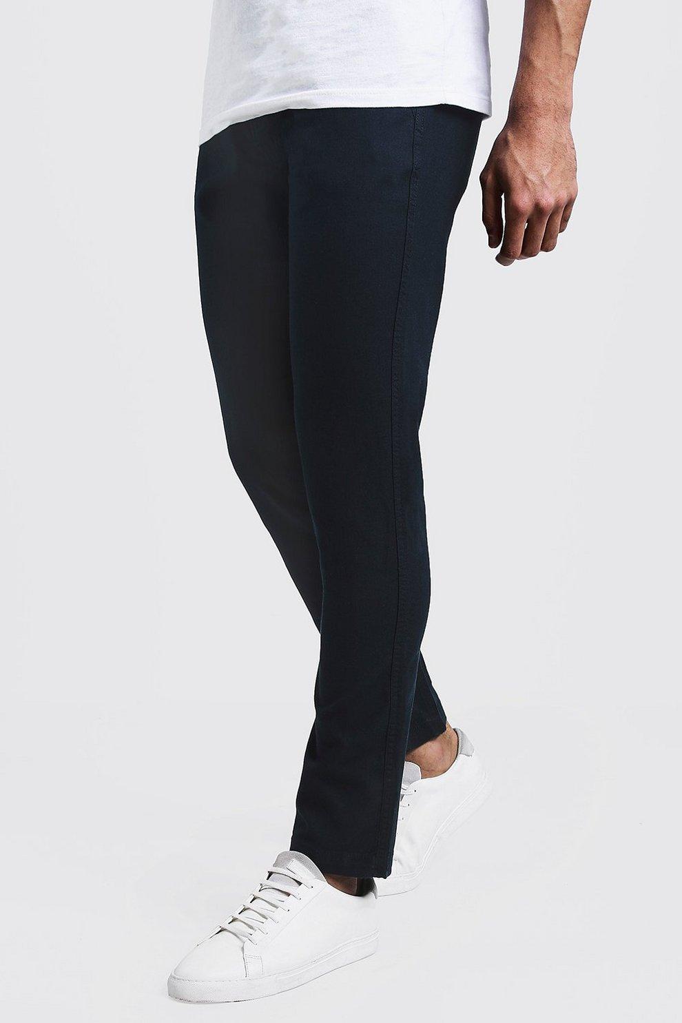 336b01661fd Cotton Linen Blend Slim Fit Trouser