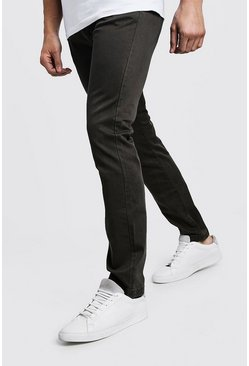 Mens Khaki Slim Fit Stretch Chino Trouser