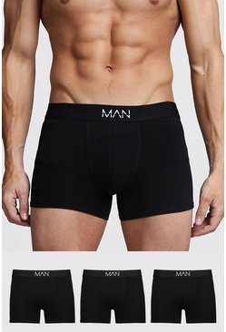 "3er-Pack ""MAN""-Shorts, Schwarz"