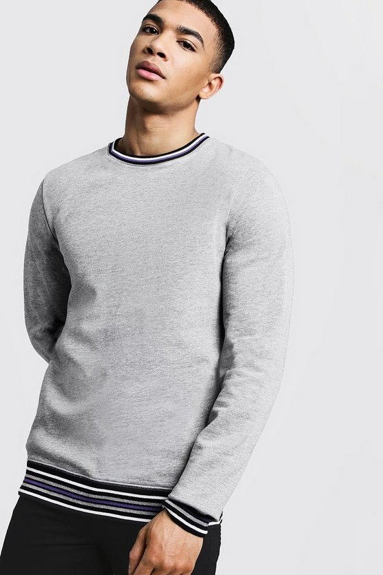 Sports Rib Detail Sweatshirt