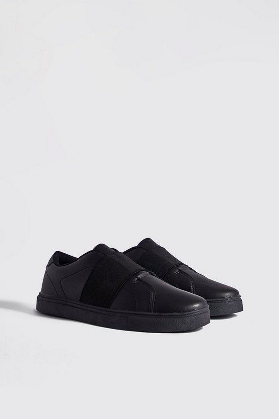 Black Elastic Detail Trainer