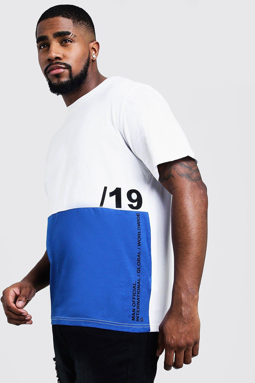 Big And Tall Colour Block T-Shirt