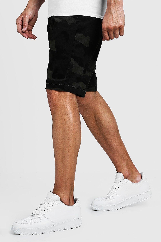 Slim Fit Cotton Camo Shorts