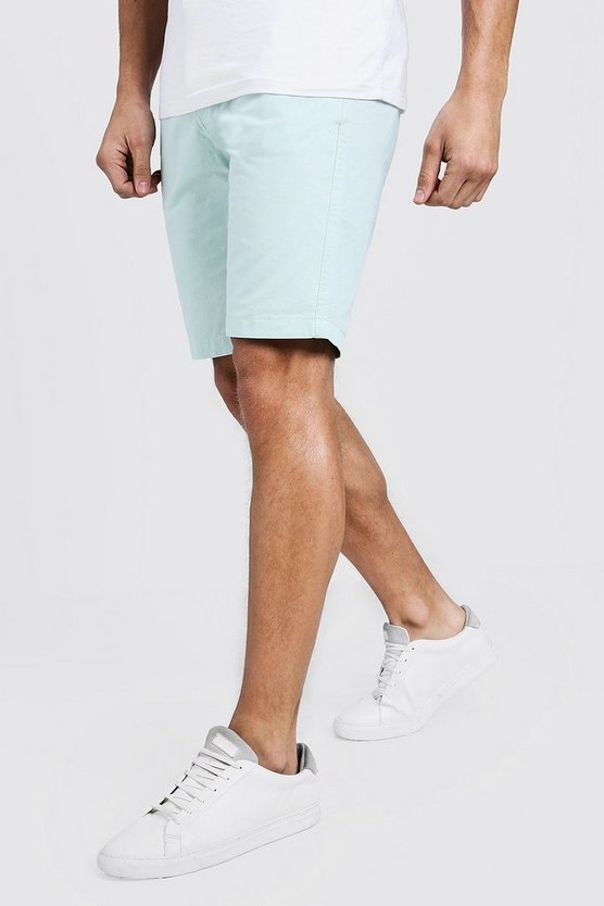Mens Mint Slim Fit Cotton Chino Shorts