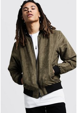 Herr Olive Peached Bomber Jacket