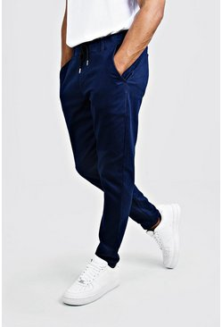 Pantalon chino coupe slim, Marine, Homme