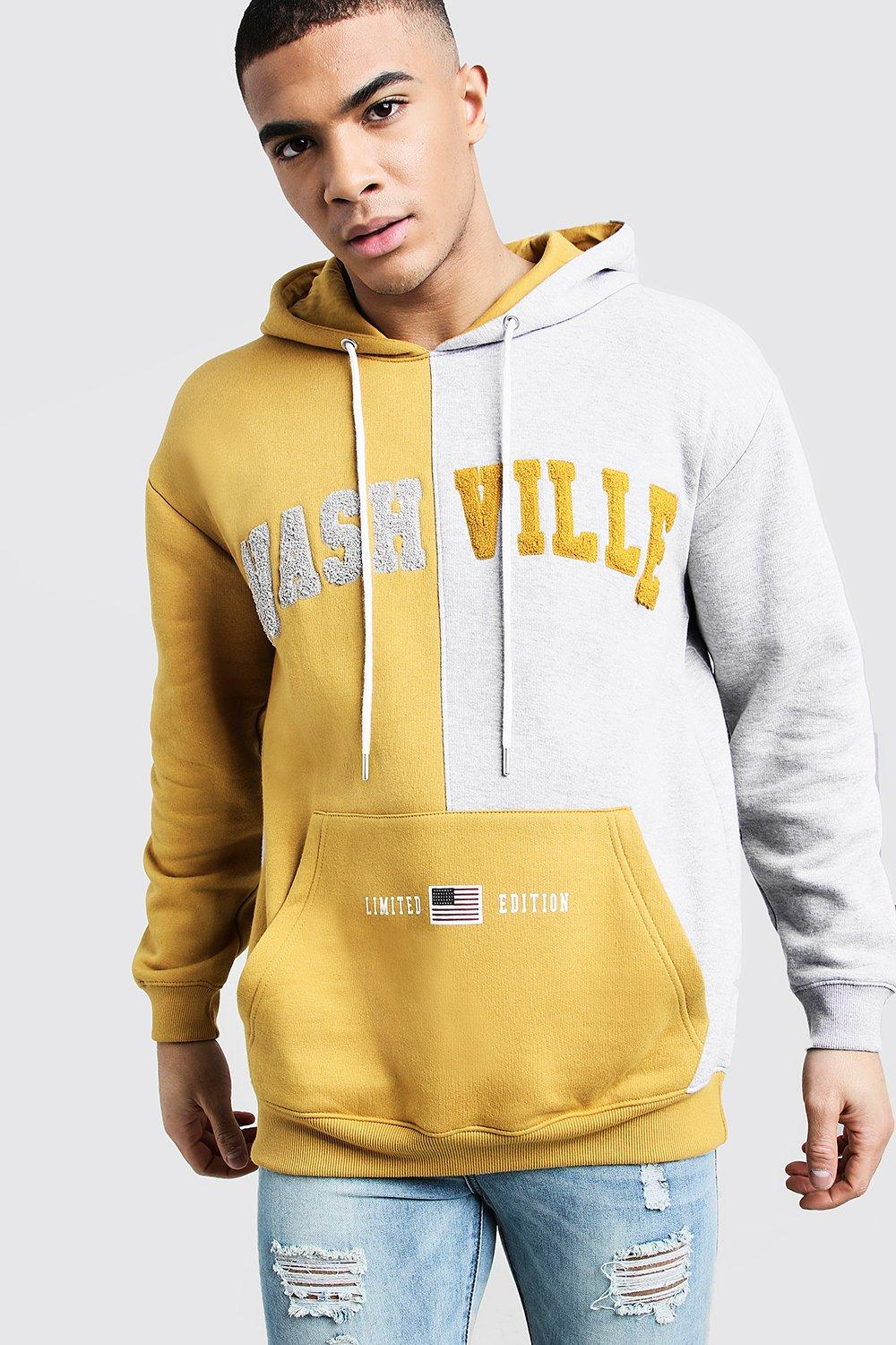 Nashville Spliced Colour Block Hoodie