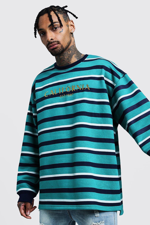 Vintage Stripe 'California' Sweatshirt
