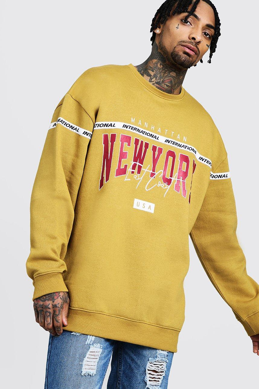 New York Loose Fit Embroidered Sweater