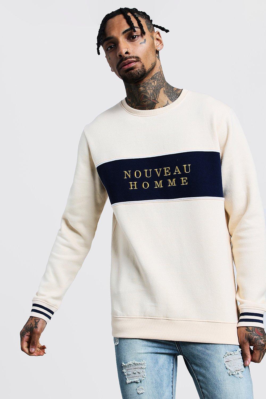 Nouveau Homme Colour Block Sweatshirt