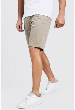 Mens Stone Slim Fit Cotton Chino Shorts
